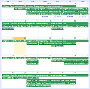 International ATI Calendar of Events
