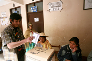 Bolivians at the polls on Jan. 25, 2009 in El Alto, Bolivia.