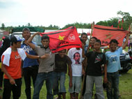 A campaign rally of PRA in Pidie Jaya district.