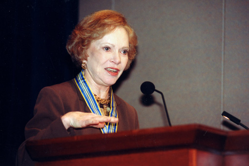 Former First Lady Rosalynn Carter opens the annual Symposium on Mental Health Policy.
