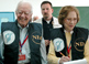 Former U.S. President Jimmy Carter and his wife, Rosalynn, observe the 2006 Palestinian parliamentary elections.