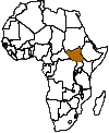 Map of Africa with South Sudan Highlighted