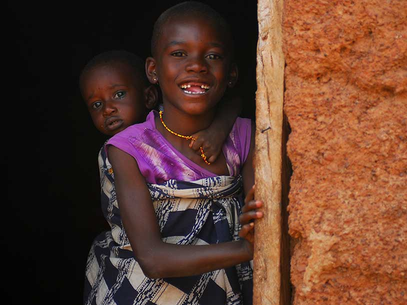Little girls in Ghana are free from trachoma.
