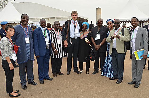 Group photo including chiefs from Liberia and Cote d'Ivoire.