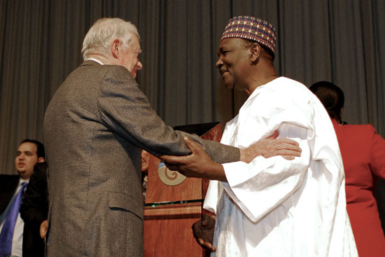Jimmy Carter with Dr. Yakubu Gowon