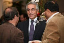 Photo of Diego Garcia-Sayan, Justice of the Inter-American Court of Human Rights, at a special conference dinner.